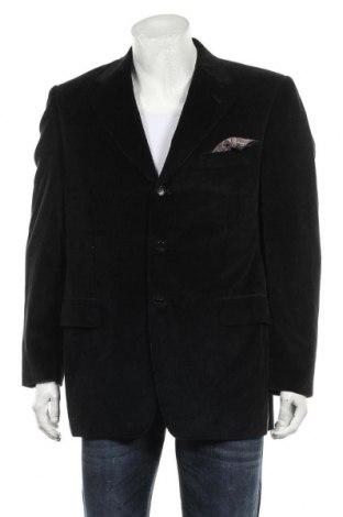 Мъжко сако Canali, Размер XL, Цвят Черен, 95% памук, 5% кашмир, Цена 29,40лв.
