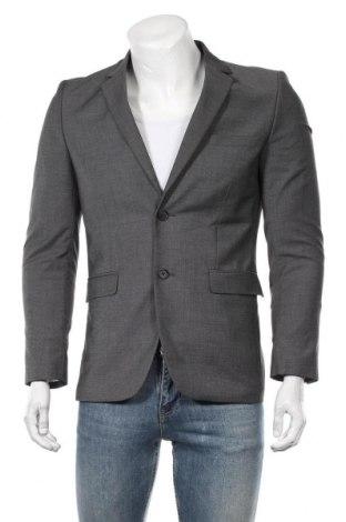 Мъжко сако H&M, Размер S, Цвят Сив, 83% полиестер, 15% вискоза, 2% еластан, Цена 34,02лв.