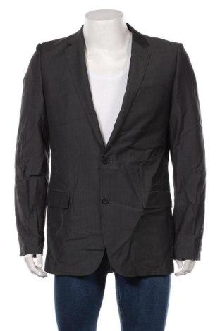 Мъжко сако Hugo Boss, Размер XL, Цвят Сив, Вълна, Цена 99,96лв.