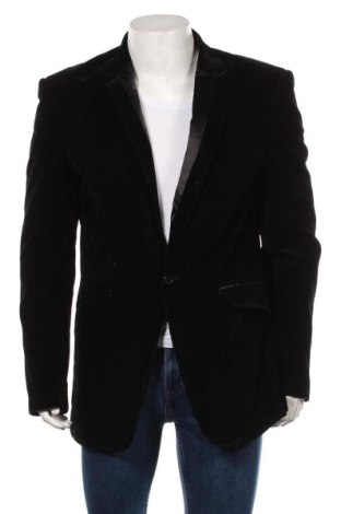 Мъжко сако Zara, Размер XL, Цвят Черен, Други тъкани, Цена 34,65лв.