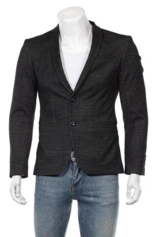 Мъжко сако Zara Man, Размер S, Цвят Сив, 97% вълна, 3% еластан, Цена 35,91лв.