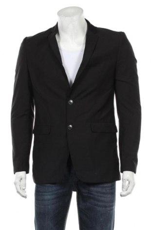 Мъжко сако Zara Man, Размер L, Цвят Черен, Полиестер, Цена 33,75лв.