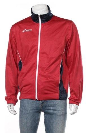 Мъжко спортно горнище ASICS, Размер XL, Цвят Червен, Полиестер, Цена 30,45лв.