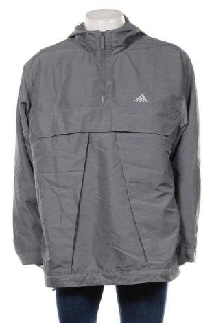 Мъжко спортно яке Adidas, Размер L, Цвят Сив, 54% полиамид, 46% полиестер, Цена 30,45лв.