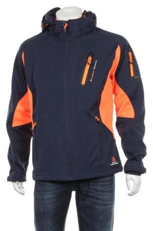 Мъжко спортно яке Peak Mountain, Размер L, Цвят Син, 94% полиестер, 6% еластан, Цена 104,25лв.