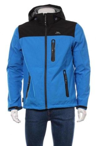 Мъжко спортно яке Trespass, Размер M, Цвят Син, 94% полиестер, 6% еластан, Цена 63,36лв.