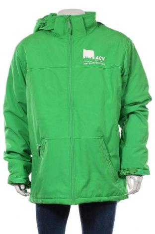 Мъжко яке, Размер 3XL, Цвят Зелен, 95% полиестер, 5% еластан, Цена 56,70лв.