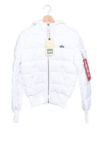 Męska kurtka Alpha Industries, Rozmiar XXS, Kolor Biały, Poliamid, Cena 361,25zł