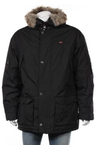 Мъжко яке Geographical Norway, Размер L, Цвят Черен, Полиестер, Цена 86,05лв.
