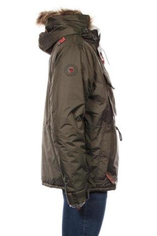 Мъжко яке Geographical Norway, Размер M, Цвят Зелен, Полиестер, Цена 157,92лв.