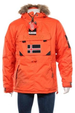 Мъжко яке Geographical Norway, Размер L, Цвят Оранжев, Полиестер, Цена 174,37лв.