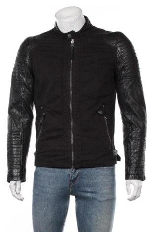 Мъжко яке Gipsy, Размер S, Цвят Черен, 100% памук, естествена кожа, Цена 239,25лв.