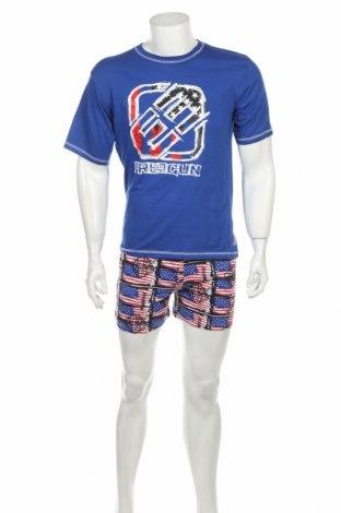 Пижама Freegun, Размер M, Цвят Син, Памук, Цена 36,75лв.