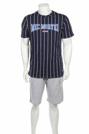 Пижама Undiz, Размер M, Цвят Син, Памук, полиестер, Цена 36,75лв.
