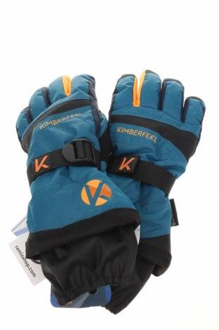 Mănuși pentru sporturi de iarnă Kimberfeel, Culoare Albastru, 78% poliester, 22% poliuretan, Preț 115,79 Lei