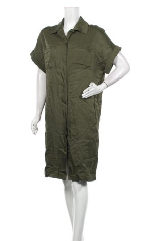 Рокля Aspesi, Размер L, Цвят Зелен, 65% вискоза, 35% памук, Цена 44,10лв.