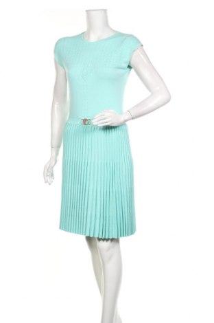 Рокля Versace Collection, Размер M, Цвят Зелен, 70% вискоза, 30% полиестер, Цена 171,00лв.