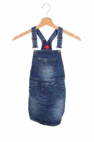 Dziecięca sukienka S.Oliver, Rozmiar 7-8y/ 128-134 cm, Kolor Niebieski, 78% bawełna, 20% poliester, 2% elastyna, Cena 98,00zł