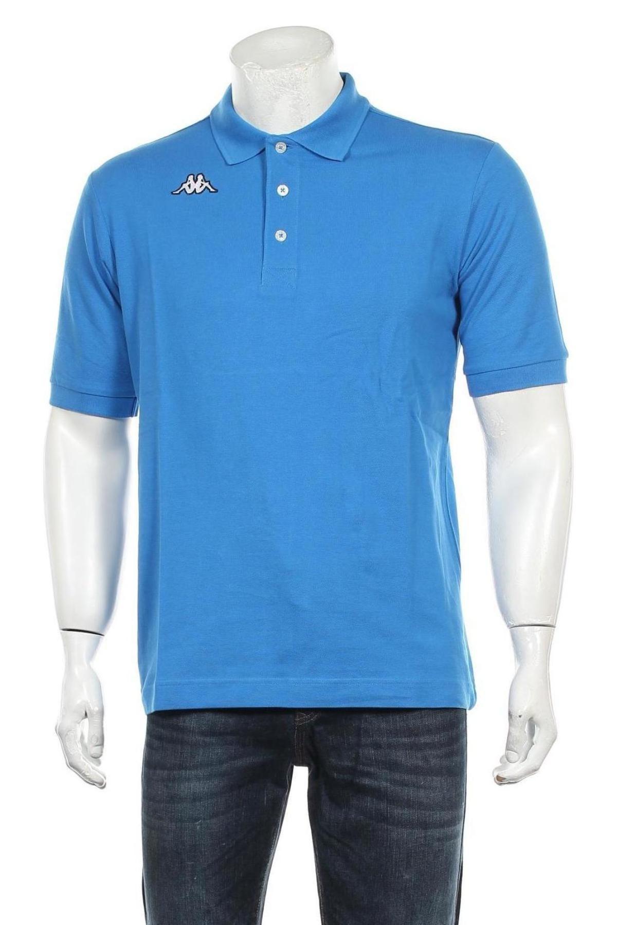 Мъжка тениска Kappa, Размер M, Цвят Син, Памук, Цена 28,50лв.
