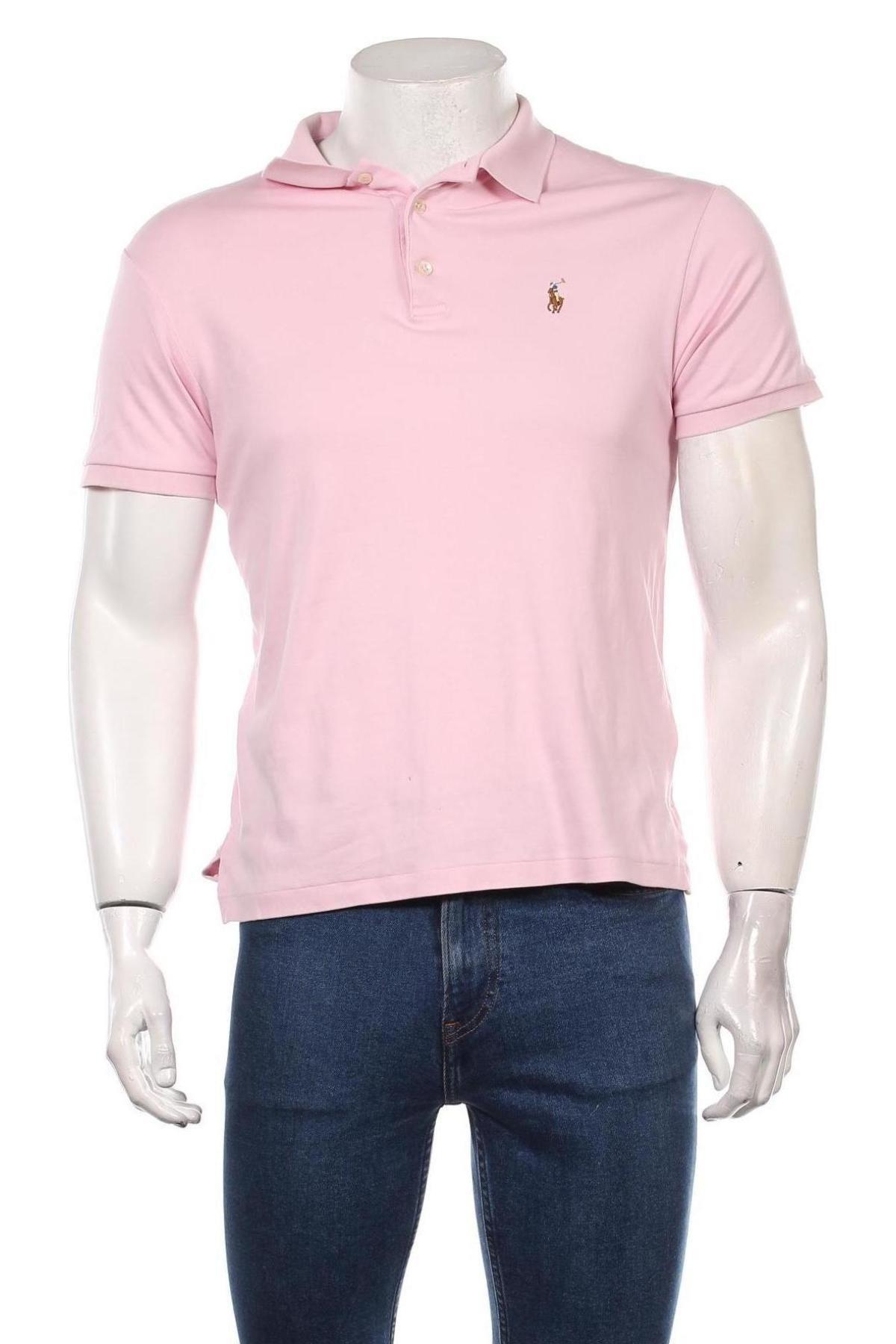 Мъжка тениска Polo By Ralph Lauren, Размер L, Цвят Розов, Памук, Цена 66,75лв.