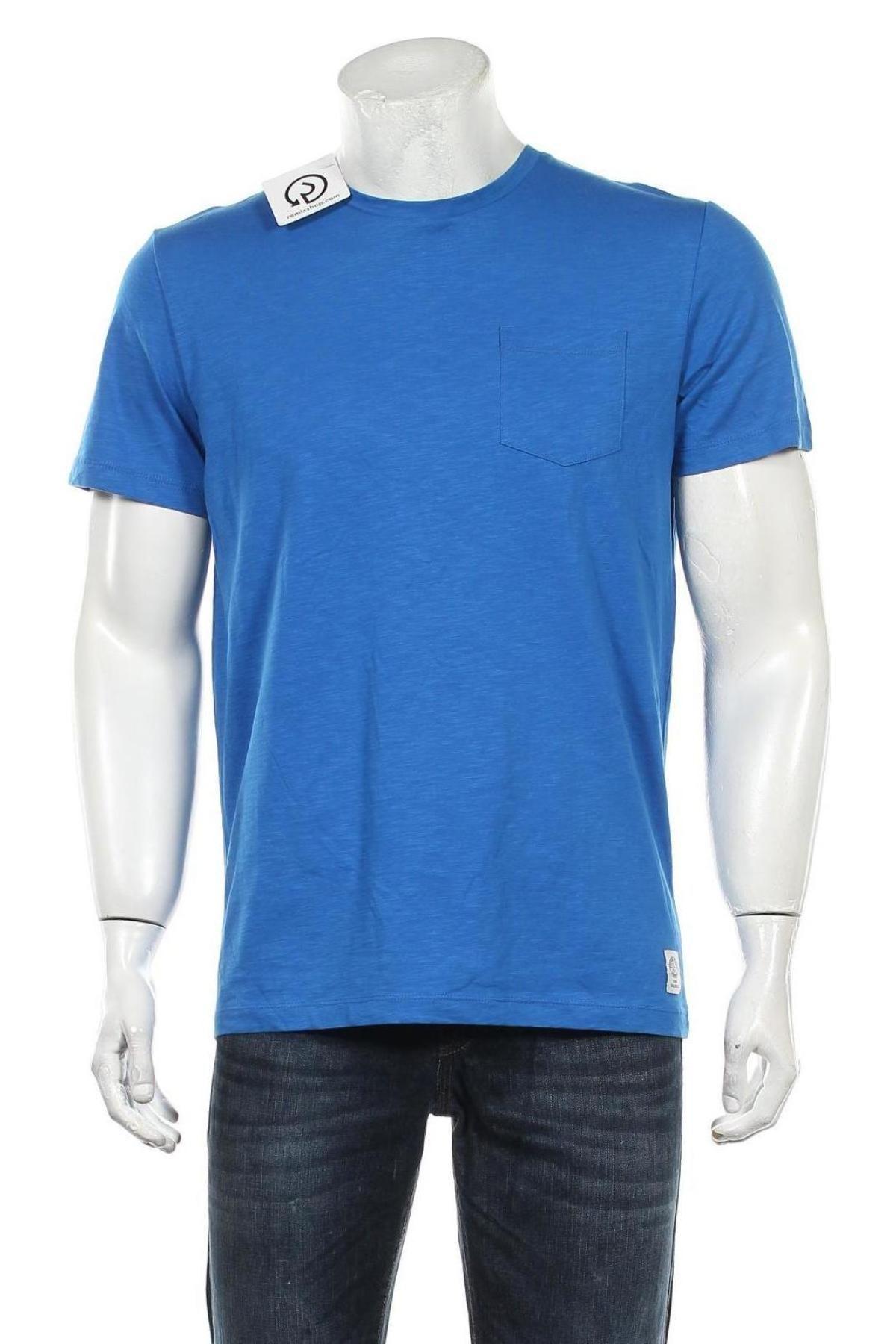 Мъжка тениска Tom Tailor, Размер M, Цвят Син, Памук, Цена 25,20лв.
