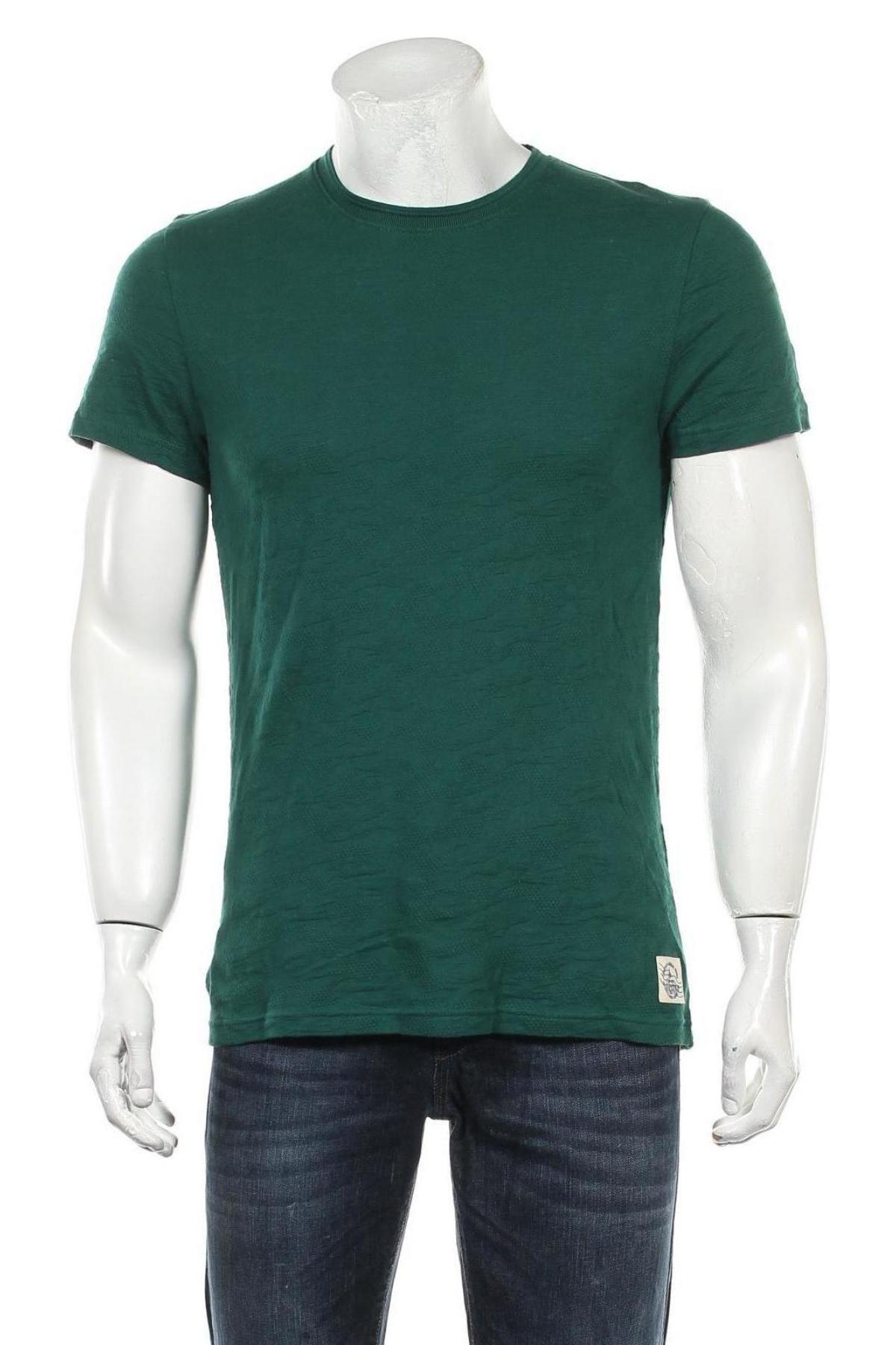Мъжка тениска Tom Tailor, Размер M, Цвят Зелен, 60% памук, 40% полиестер, Цена 24,70лв.