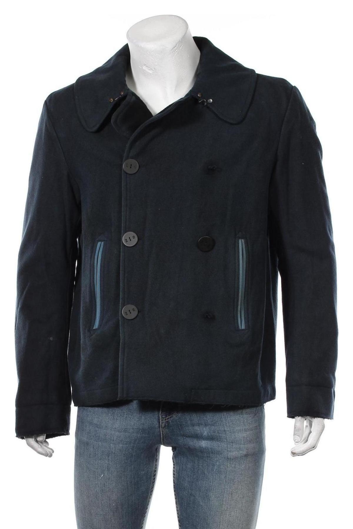 Мъжко палто North Sails, Размер L, Цвят Син, 80% вълна, 20% полиамид, Цена 158,67лв.
