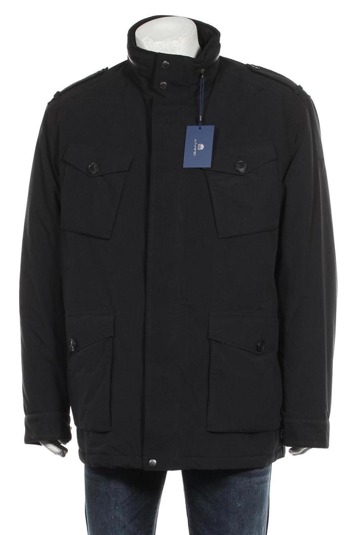 Мъжко яке Gant, Размер XXL, Цвят Черен, Полиестер, Цена 246,75лв.