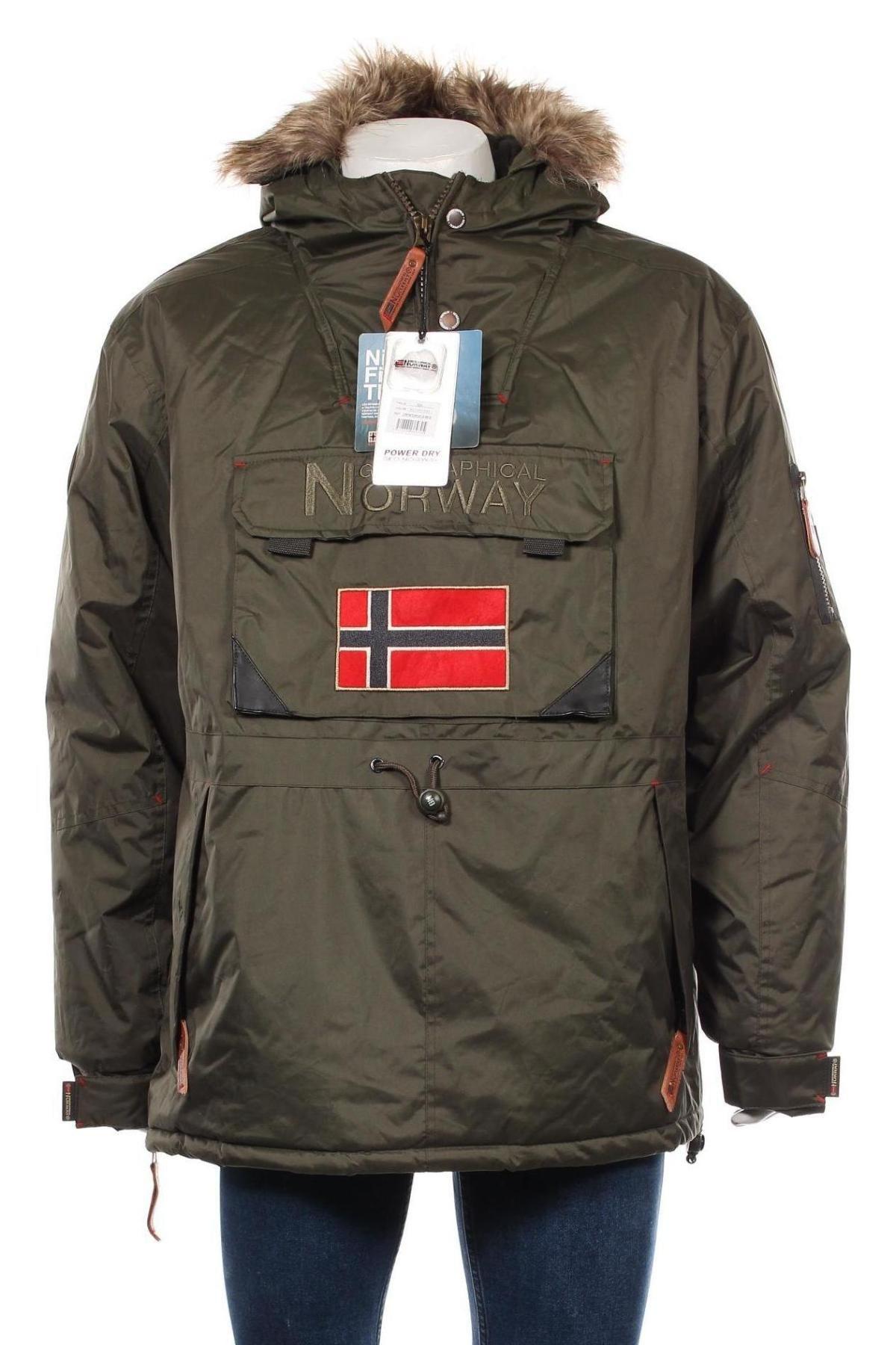 Мъжко яке Geographical Norway, Размер XXL, Цвят Зелен, Полиестер, Цена 157,92лв.