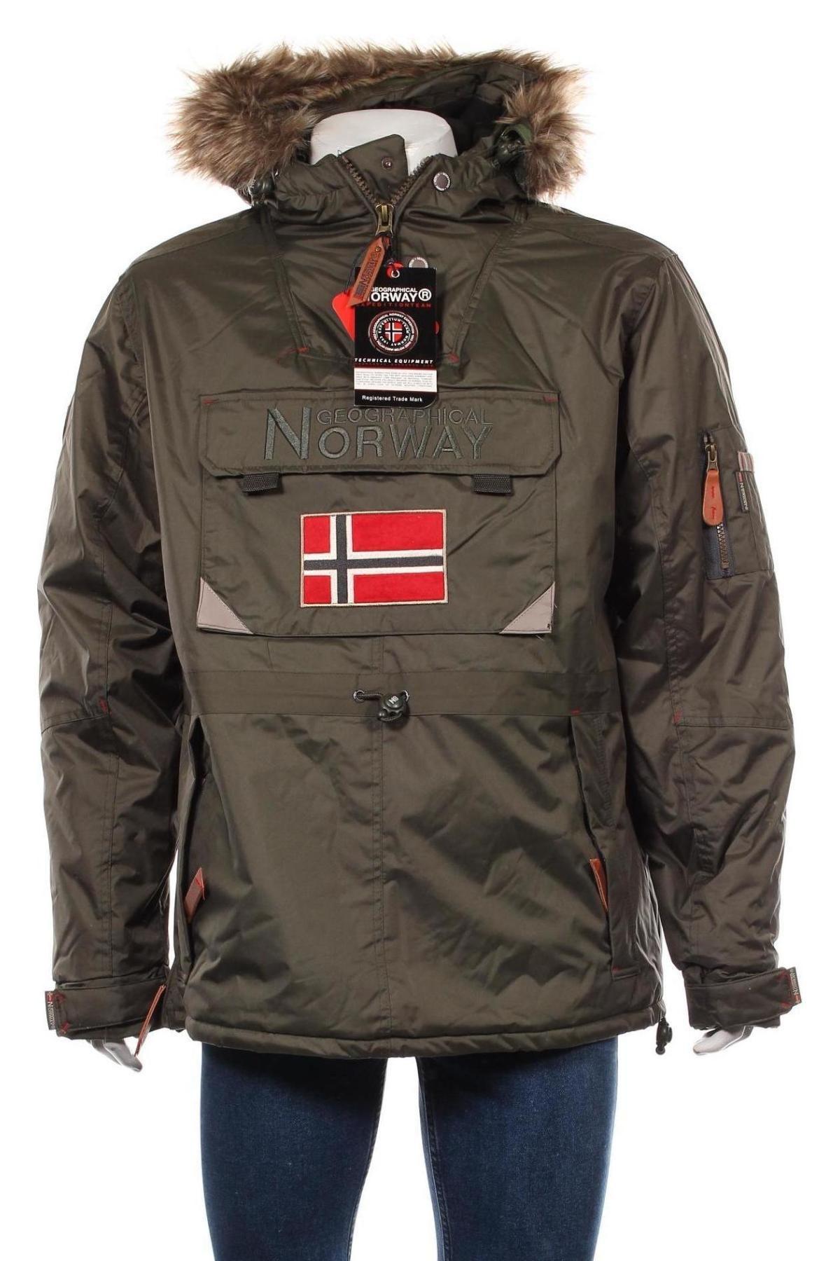Мъжко яке Geographical Norway, Размер L, Цвят Зелен, Полиестер, Цена 157,92лв.