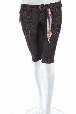 Γυναικείο κοντό παντελόνι Bandits Du Monde, Μέγεθος S, Χρώμα Μαύρο, 64% βαμβάκι, 36% ελαστάνη, Τιμή 15,68€
