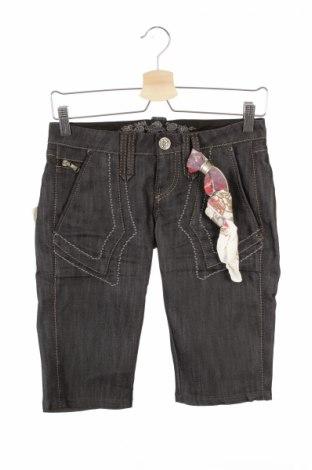Γυναικείο κοντό παντελόνι Bandits Du Monde, Μέγεθος XS, Χρώμα Μαύρο, 64% βαμβάκι, 36% ελαστάνη, Τιμή 15,68€