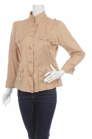 Дамско яке, Размер L, Цвят Бежов, 98% памук, 2% еластан, Цена 10,00лв.
