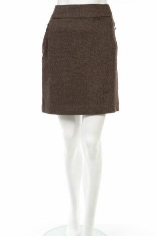 Φούστα Laura Clement, Μέγεθος S, Χρώμα Καφέ, 42% πολυεστέρας, 32% βισκόζη, 26% μαλλί, Τιμή 3,39€