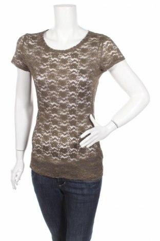 Дамска блуза H&M Conscious Collection, Размер S, Цвят Зелен, 51% полиестер, 37% полиамид, 12% еластан, Цена 4,25лв.