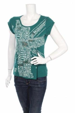 Дамска блуза Miss Etam, Размер L, Цвят Зелен, Памук, Цена 8,25лв.