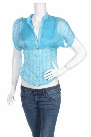 Дамска риза Amy Gee, Размер L, Цвят Син, Полиестер, Цена 11,05лв.