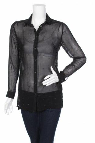 Γυναικείο πουκάμισο Clockhouse, Μέγεθος XS, Χρώμα Μαύρο, Πολυεστέρας, Τιμή 5,31€