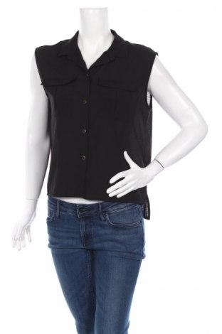 Дамска риза H&M, Размер S, Цвят Черен, Полиестер, Цена 7,15лв.
