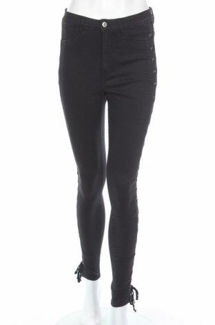 Дамски дънки H&M Divided, Размер M, Цвят Черен, 75% памук, 23% полиестер, 2% еластан, Цена 13,80лв.