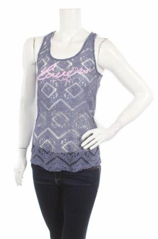 Γυναικείο αμάνικο μπλουζάκι April Evil, Μέγεθος S, Χρώμα Μπλέ, Πολυεστέρας, Τιμή 1,86€