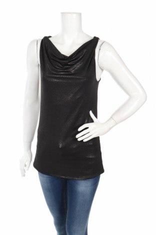 Γυναικείο αμάνικο μπλουζάκι Jacob, Μέγεθος S, Χρώμα Μαύρο, 93% πολυεστέρας, 7% ελαστάνη, Τιμή 3,13€