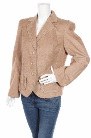 Дамско сако Biba, Размер L, Цвят Бежов, 50% памук, 50% полиестер, Цена 25,48лв.