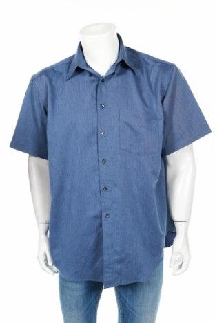 Ανδρικό πουκάμισο Vroom & Dreesmann, Μέγεθος M, Χρώμα Μπλέ, 65% πολυεστέρας, 35% βισκόζη, Τιμή 3,85€