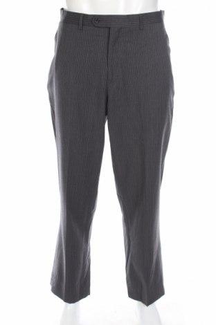 Мъжки панталон Michael Kors, Размер L, Цвят Сив, 100% вълна, Цена 71,82лв.