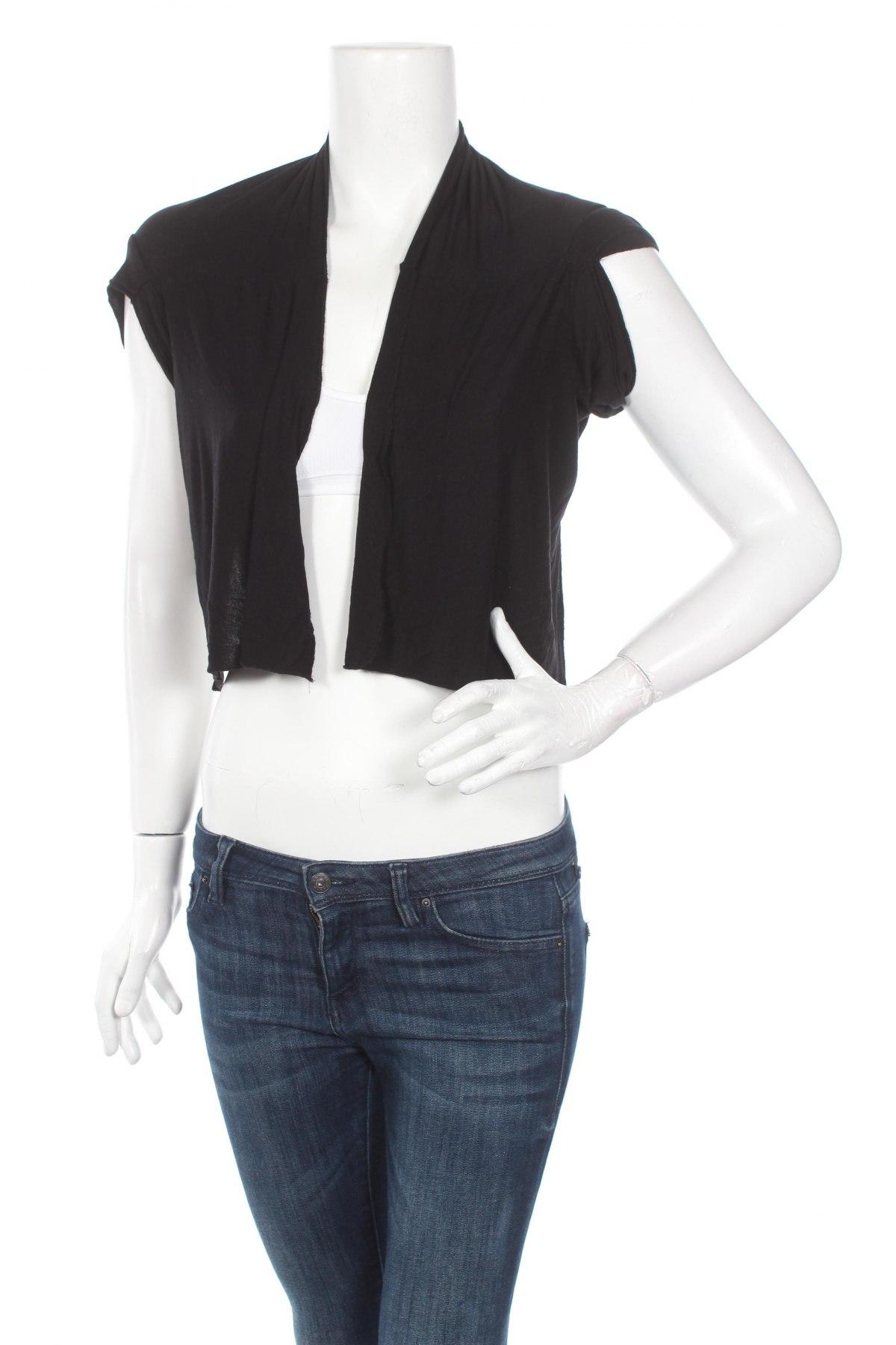 Дамска жилетка Madonna, Размер S, Цвят Черен, 92% вискоза, 8% еластан, Цена 4,68лв.