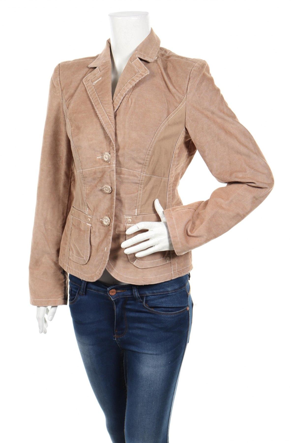 Дамско сако Biba, Размер S, Цвят Бежов, 50% памук, 50% полиестер, Цена 25,48лв.
