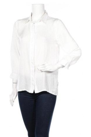 Дамска риза Akoz, Размер M, Цвят Бял, Полиестер, Цена 16,80лв.