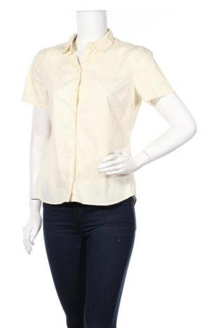 Дамска риза Mango, Размер L, Цвят Жълт, 97% памук, 3% еластан, Цена 10,86лв.