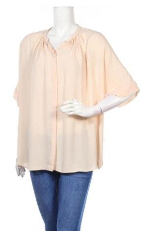 Дамска риза Zara, Размер M, Цвят Бежов, Цена 26,00лв.